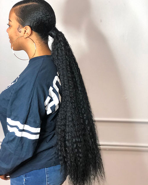 Different Ponytail Styles For Long Hair