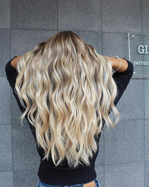 Ash Blonde Balayage Long Hair