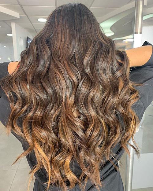 Brown Balayage Long Hair