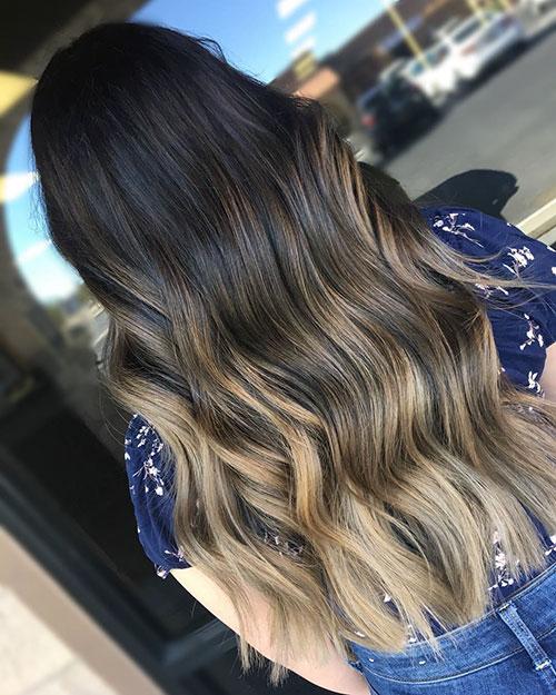 Balayage Blonde Hair Long