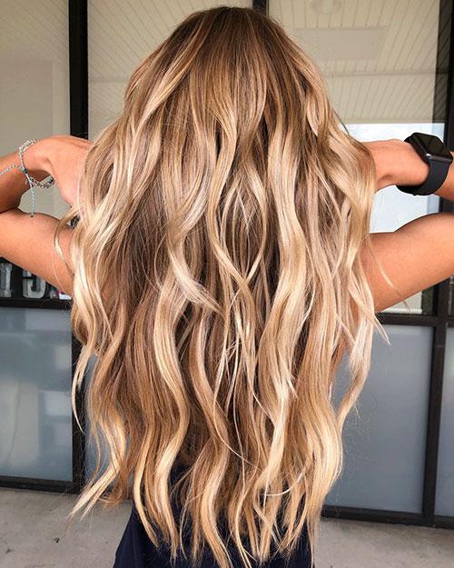 Light Brown Balayage Long Hair