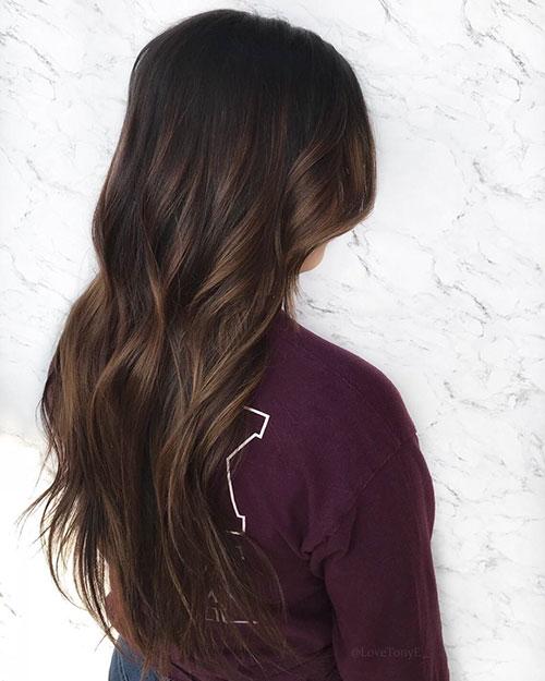 Brunette Hair Long