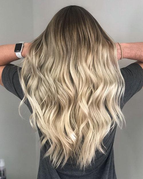 Balayage Long Blonde Hair