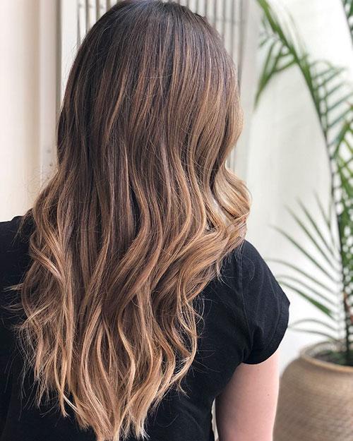 Long Hair Brunette Styles