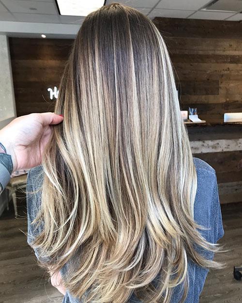 Long Straight Balayage Hair