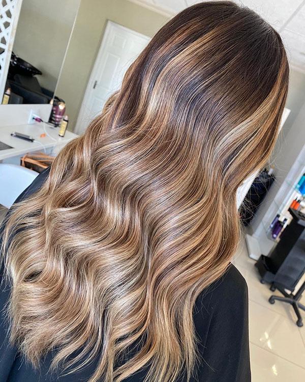 Brown Long Haircuts