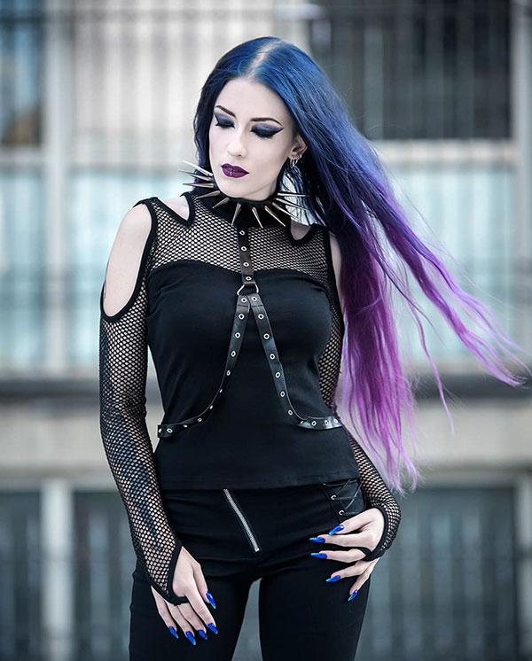 Long Purple Hairstyles