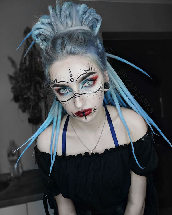 Images Of Long Blue Hair