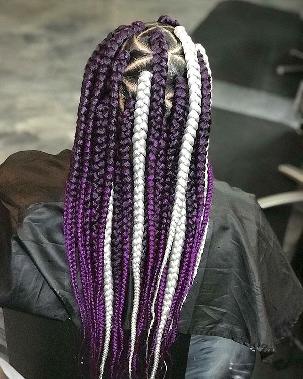 Women With Long Purple Hair