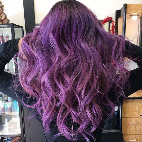 Haircuts For Long Purple Hair