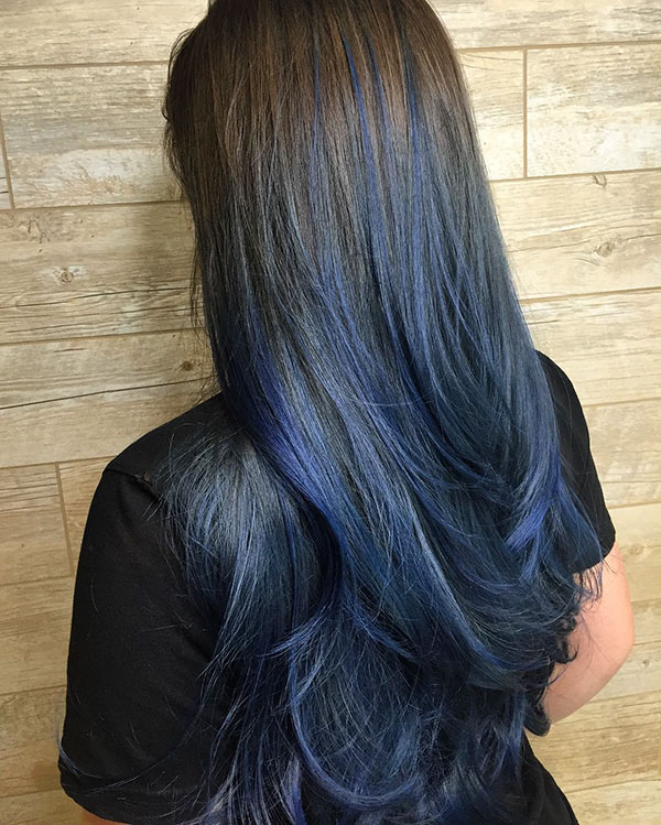 Hairstyles For Long Blue Hair