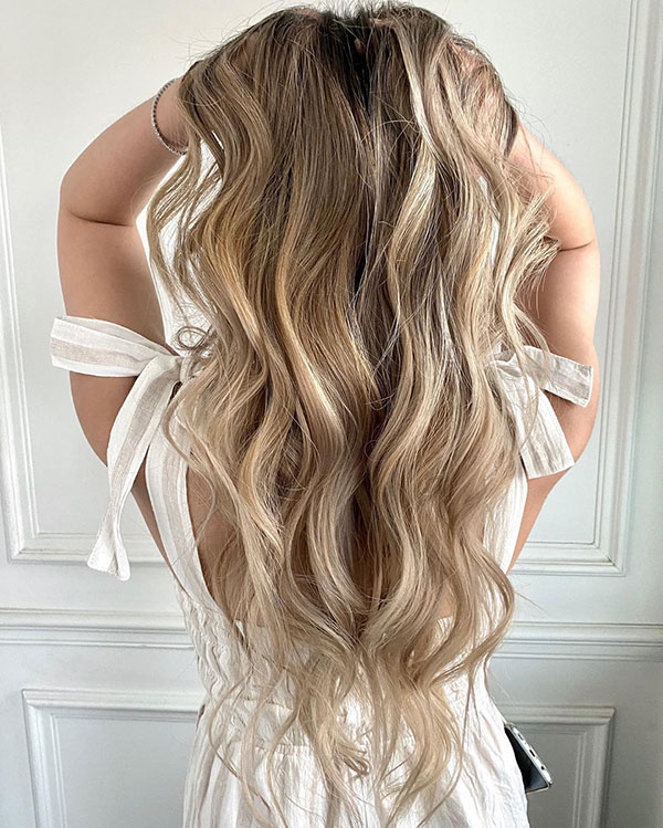 Long Balayage Hair Color