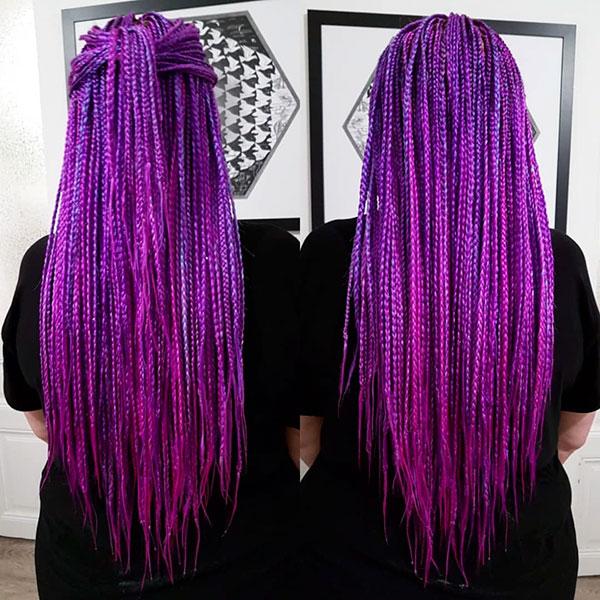 Purple Long Hairstyles