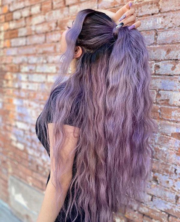 Long Purple Hairstyles 2020
