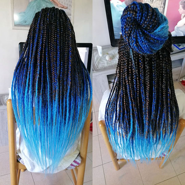 Long Blue Hairstyles 2020