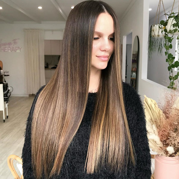 Long Hair With Highlights