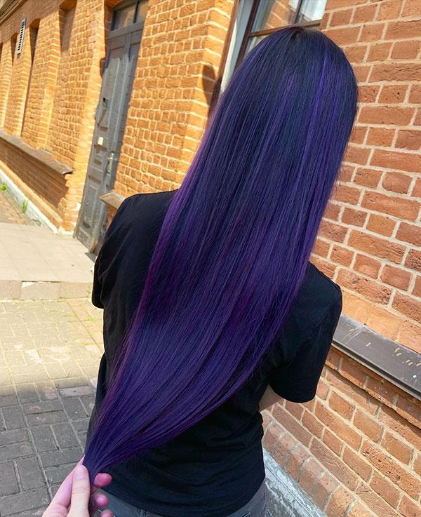 Purple Hair Ideas For Long Hair