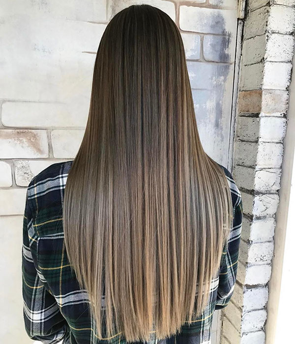 Long Straight Hairstyle Ideas
