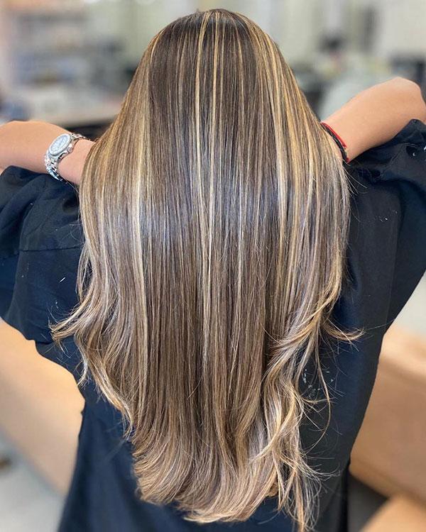 Women With Long Balayage Hair