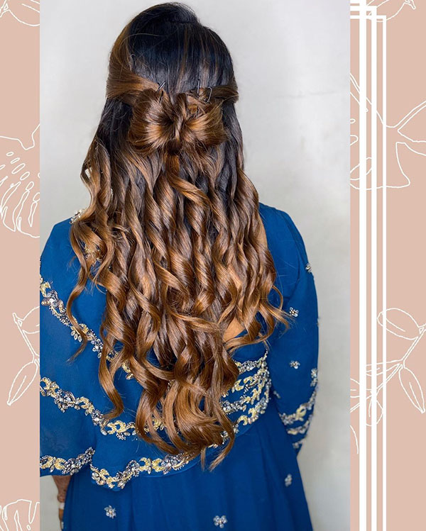 Half Up Hairdos For Long Hair