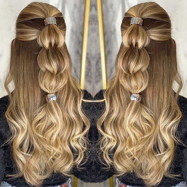 Long Half Up Hairstyles For Girls