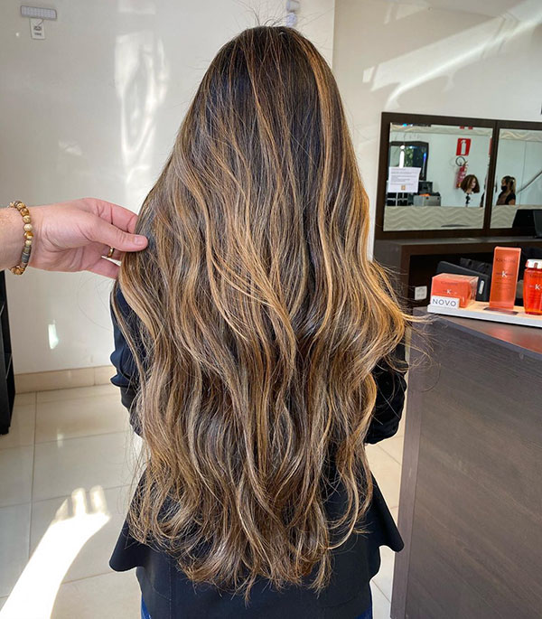 Long Hair Lowlights For Girls